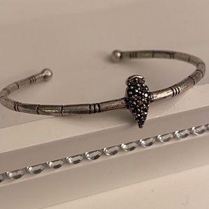 Lucky Brand | Silver & Black Bracelet